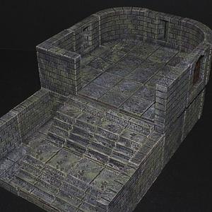 Cut-Stone Arrow Slit 3D Model