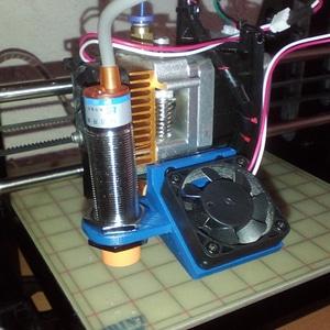 Geeetech I3 40mm cooling fan sensor mount 3D Model