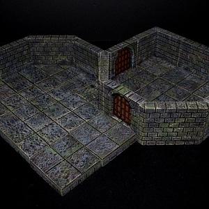 Cut Stone Diagonal 3D Model