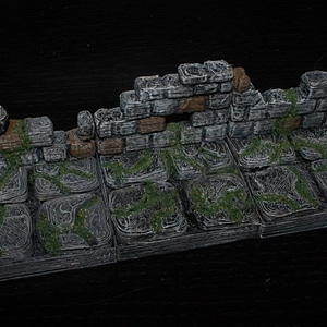OpenForge Ruined Wall Tile 3D Model