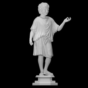 Bronze statue of a camillus (acolyte) 3D Model