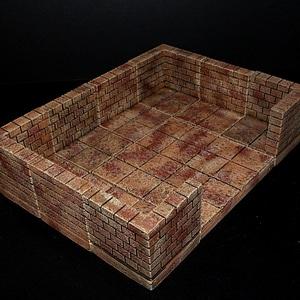 Cut Stone Corner 3D Model