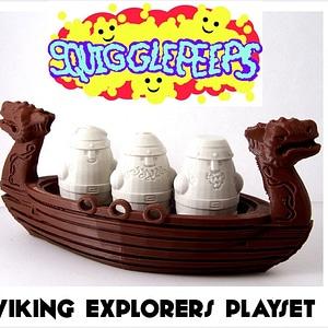 Squigglepeeps: Viking Explorers Playset 3D Model