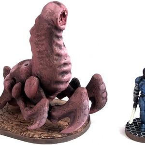 Cave Worm 3D Model