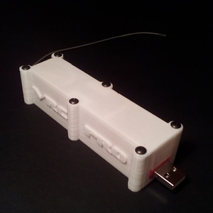 VRC-3NT USB dongle and receiver case 3D Model