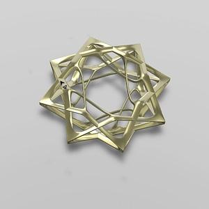David's Star Jewel 3D Model
