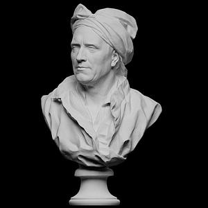 Portrait of Nicolas Coustou 3D Model