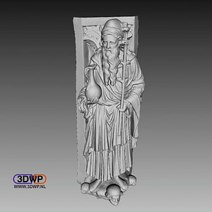 Golden Gate Of Freiberg Cathedral Statue 3D Model