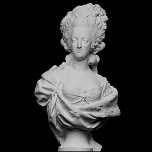 Portrait of Marie Antoinette (1755-93) 3D Model