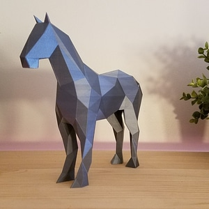 Low Poly Horse 3D Model