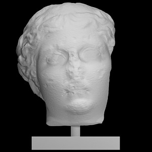 Head of Antonia Minor 3D Model