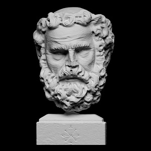 Head of a Bearded Man 3D Model