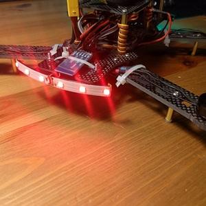 Z250 drone led strip holder 3D Model