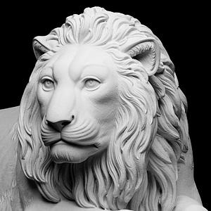 Recumbent Lion 3D Model