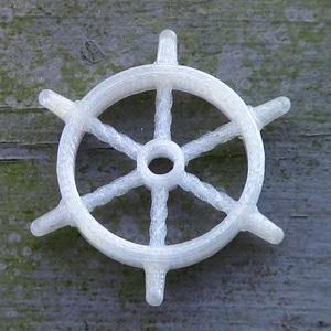 Ship wheel pendant or ornament 3D Model