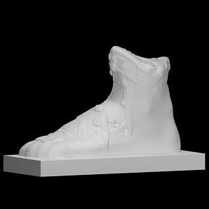 Statue (fragment) of Foot Carved 3D Model