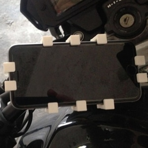 Iphone 6-6s Holder to bike or motorcycle 3D Model