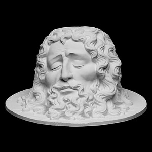 Head of St. John the Baptist on a Plate 3D Model