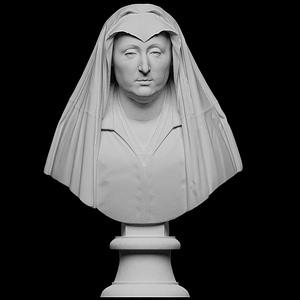 Bust of Camilla Barbadori 3D Model
