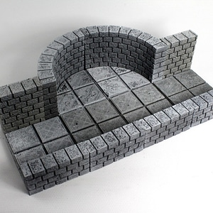 OpenForge Cut-Stone OpenLOCK Curved Walls 3D Model