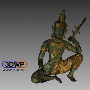 Indian God Sculpture 3D Model