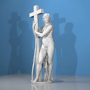 Risen Christ 3D Model