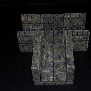 Cut Stone External Adapters 3D Model