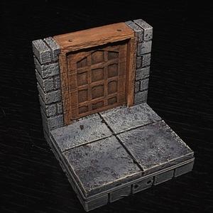 Cut Stone Square Door 3D Model