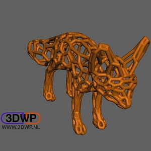 Voronoi Style Fennec Fox 3D Model