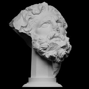 Head of a Giant 3D Model
