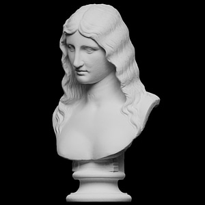 Bust of a Barbarian Woman 3D Model