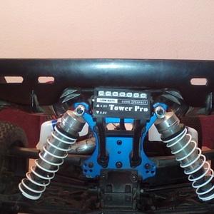 Tower Pro battery indicator mount for LRP S8 Rebel BX 3D Model