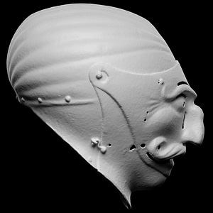 Grotesque Helmet 3D Model