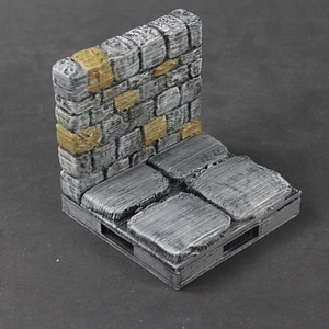 OpenForge 2.0 Dungeon Stone Wall 3D Model