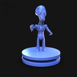 Retro Alien 1950's 3D Model