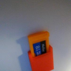 Micro SD card case 3D Model