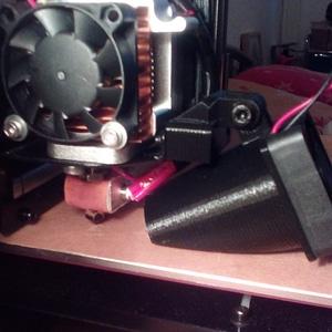 Fan funel mount for MK8 metal holder 3D Model