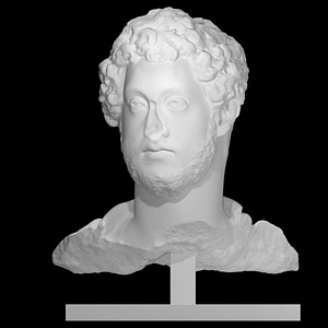 Bust of Commodus in Armour 3D Model