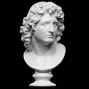 Ideal Portrait of Alexander the Great as Helios 3D Model