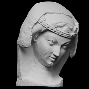 Head of an unwise Virgin 3D Model
