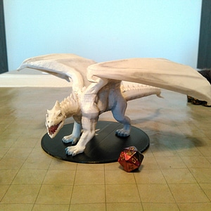 White Dragon 3D Model