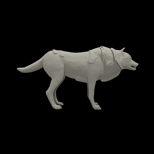 Wolf for Tabletop Games 3D Model