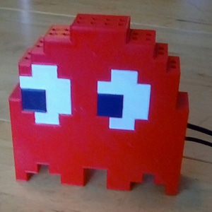 8-bit style Pac-Man ghost case for Raspberry Pi A/B 3D Model