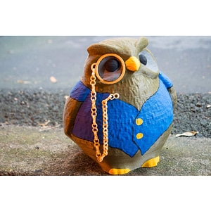 Cedric the Owl from King's Quest V 3D Model