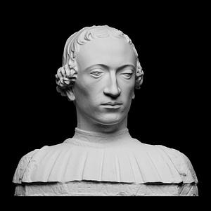 Portrait of Count Rinaldo della Luna 3D Model