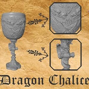 Dragon Chalice 3D Model