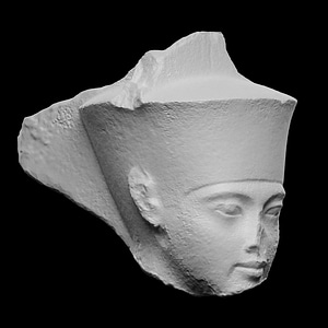 Quartzite Head of Amen with features of The Pharaoh Tutankhamen 3D Model