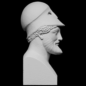 Warrior with Helmet, Miltiades 3D Model