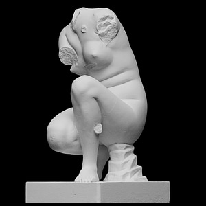 Crouching Venus with Hand of Cupid 3D Model