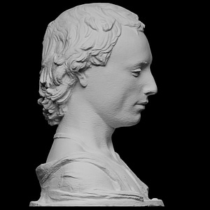 Bust of a Young Man with a Medallion 3D Model